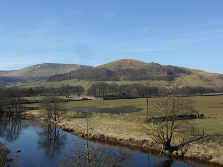 Totridge Fell and Mellor Knoll across the Hodder.