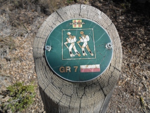 GR7 Way-marker.