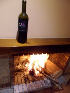 Warming the wine!