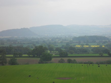The distant Clwydian Hills.