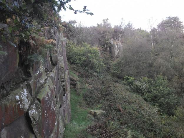 A misty Kemple Quarry