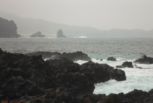 The Northern Tip of Lanzarote with Graciosa across the channel.
