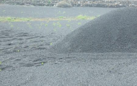 Imported crushed stone.