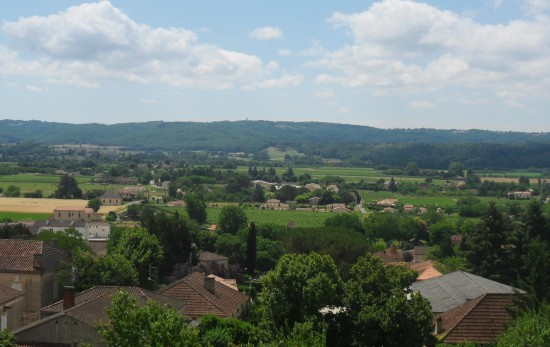 View over The Lot Valley from Duravel.