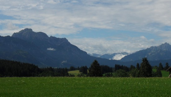 Neuschwanstein in the distance.