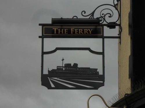Egremont Ferry - pub sign.