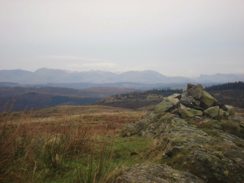 North from Saskills, Coniston and Langdale fells.