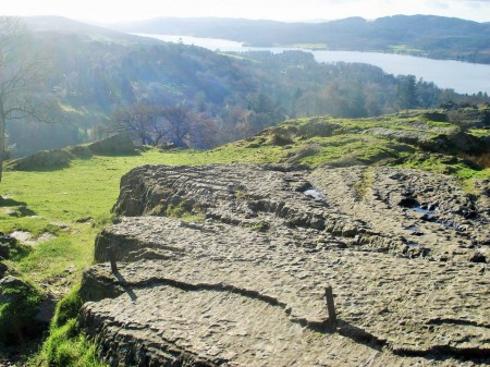 Lower reaches of Windermere from Brant Fell.
