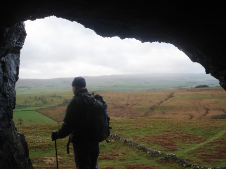 Looking out from Wall Cave.