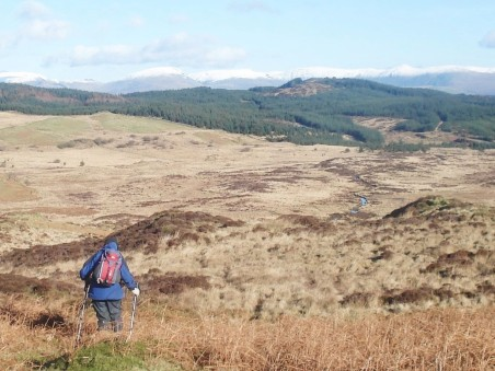 Carron Crag in our sights.