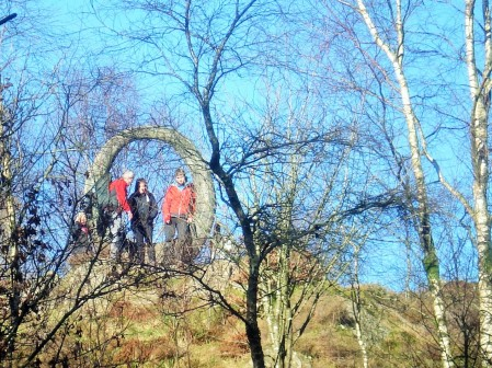 Panopticon company on Carron crag.