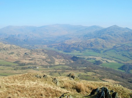 View from The Pike, Dunnerdale and the Coniston Fells.