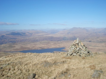 Cairn on Woodend Height.