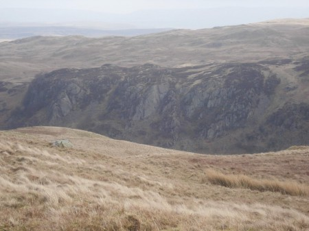 Distant Gouther Crag with Truss and Fang Buttresses visible.