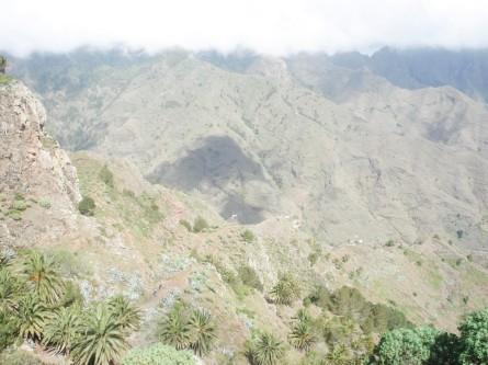 Looking down to La Laja.