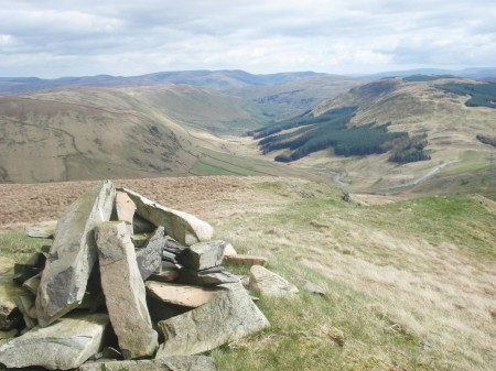 View into Borrowdale from the last summit - High House Bank.