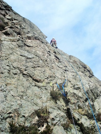 High on the last pitch of The Original Route.