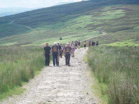 Charity walkers.