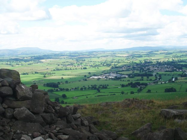 Pendle, Longridge Fell and Waddington Fell with Gargrave below.