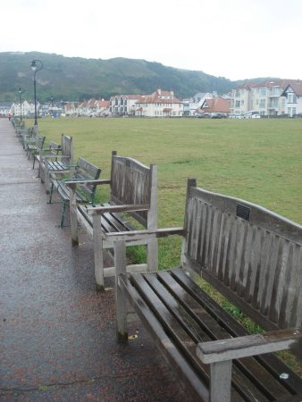 Llandudno West beach - how many memorial seats do you need?